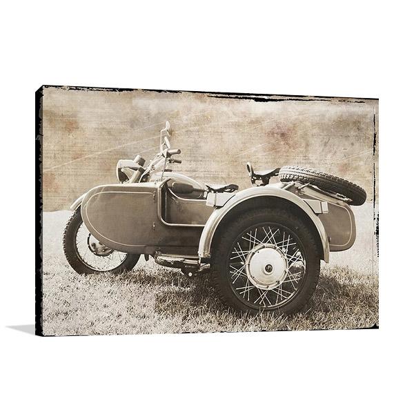 Ural Motorcycle Canvas Print