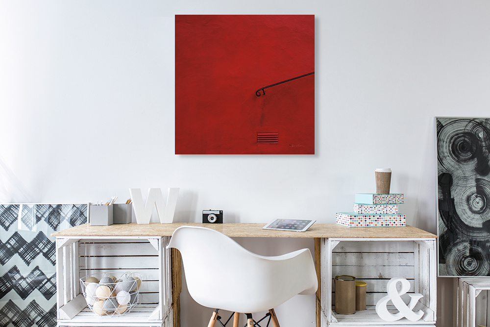 Red Square Wall Art Print