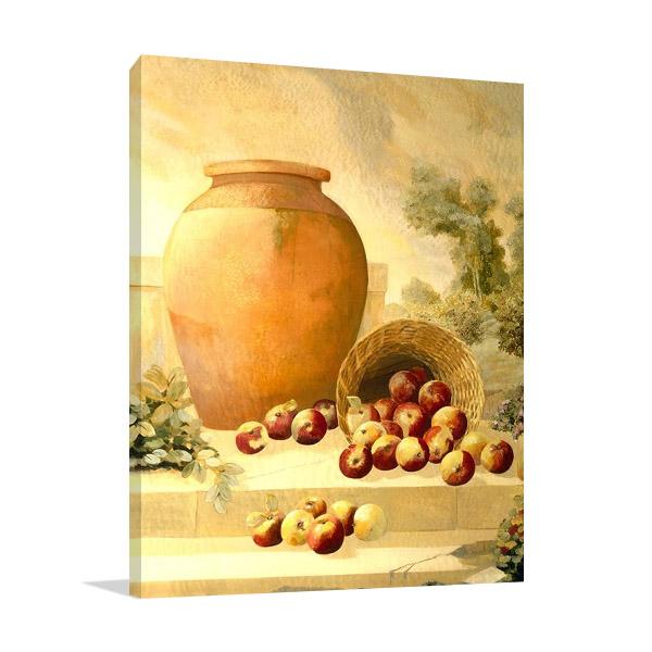 Urn with Apples Wall Print |Hall Hampton