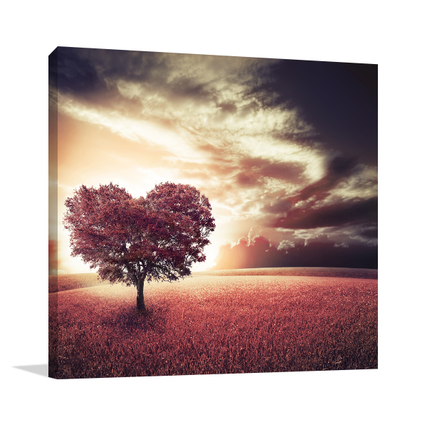 Valentine Tree Wall Canvas