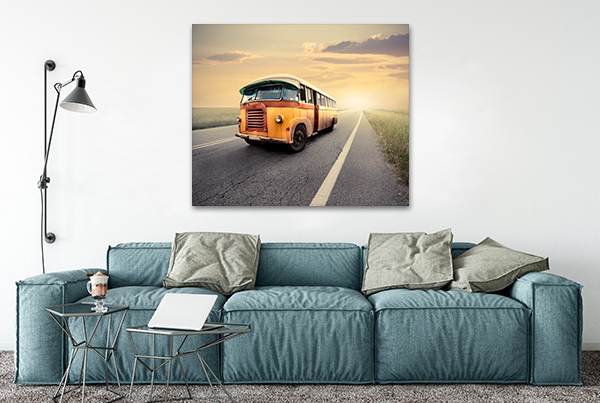 Van Canvas Wall Print