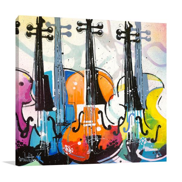 Variation for Violin III Wall Art Print