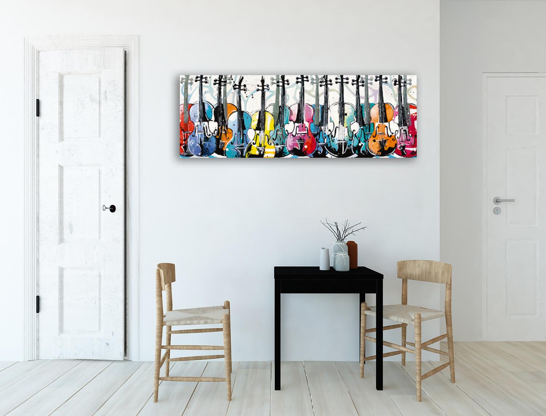 Panoramic Music Art Print on Canvas