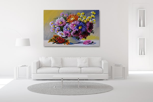 Vase on Table Wall Art