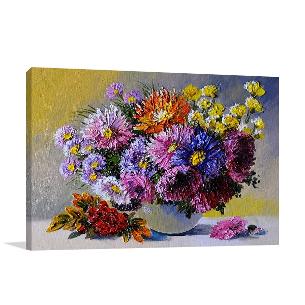 Vase on Table Art Prints