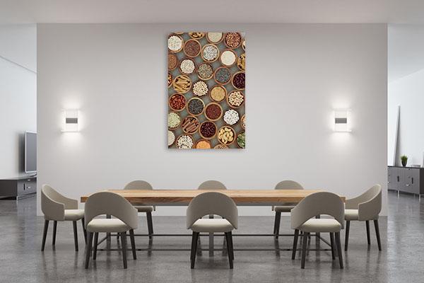 Vegan Dried Food Canvas Prints
