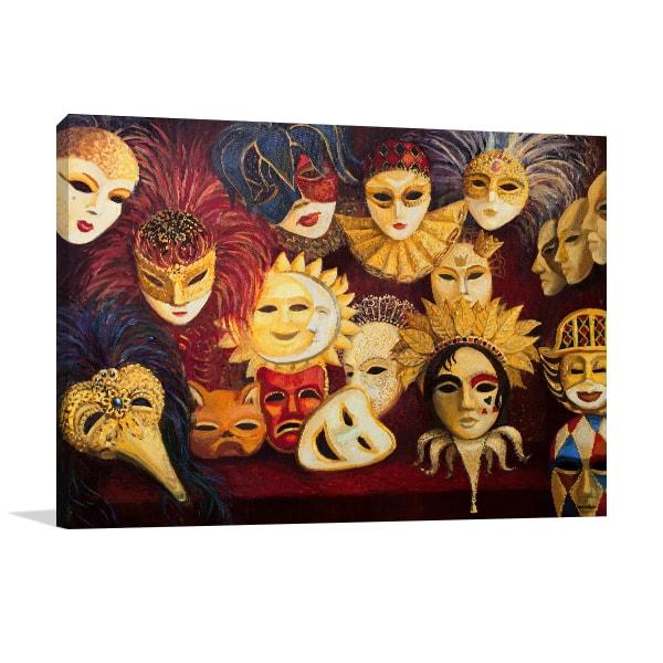 Venetian Mask Wall Canvas