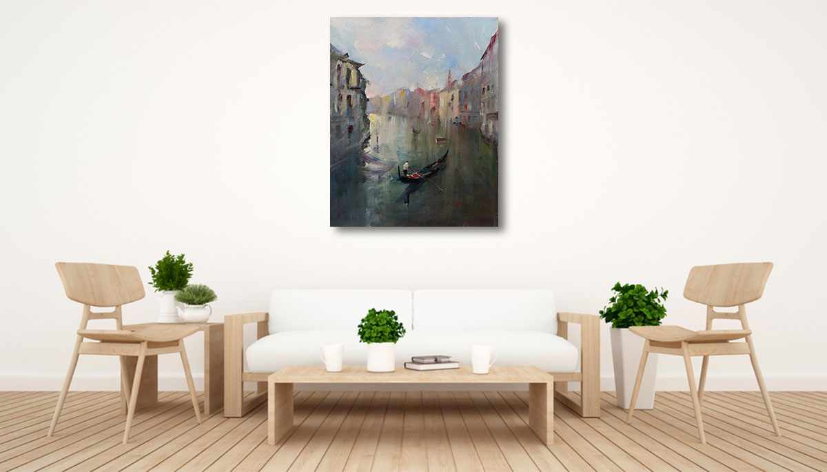 Li Zhou Artwork | Venice Canal Prints | Wall Art Canvas | Australia