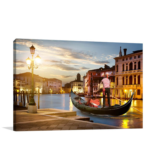 Venice Gondolier Canvas Art