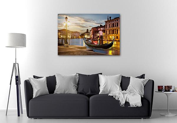 Venice Gondolier Canvas Prints