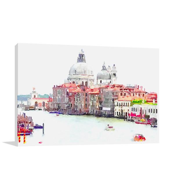 Venice Italy Illustration Canvas Art