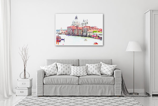 Venice Italy Illustration Prints Canvas