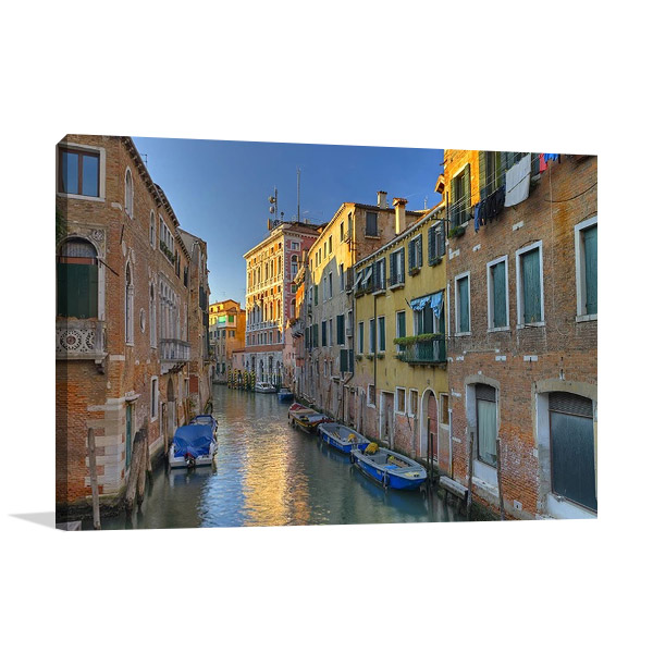 Venice Italy Water Print on Canvas