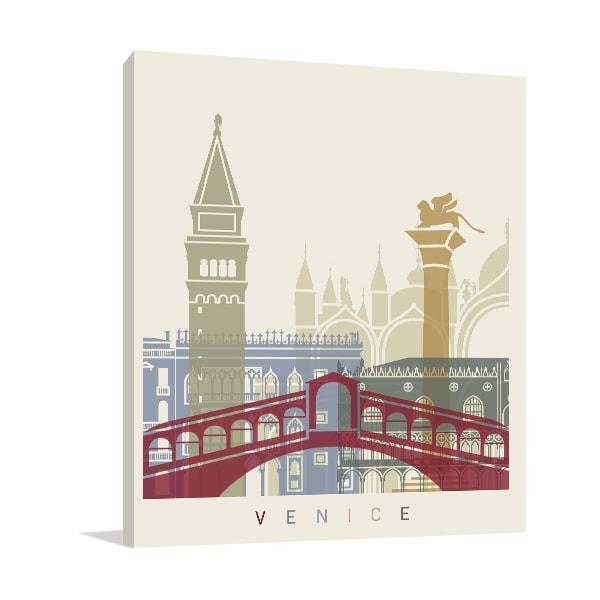Venice Skyline Wall Canvas
