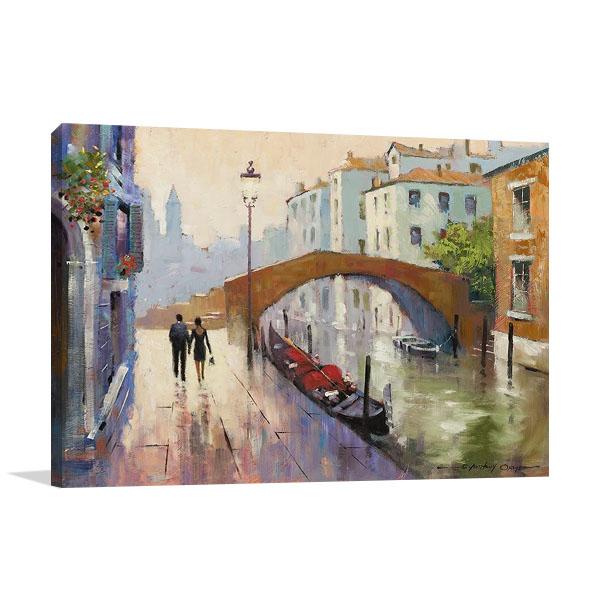 Venice Twilight Wall Canvas Print   E. Anthony Orme