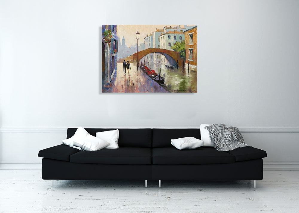 Italy Cityscapes Hanging Print on Canvas