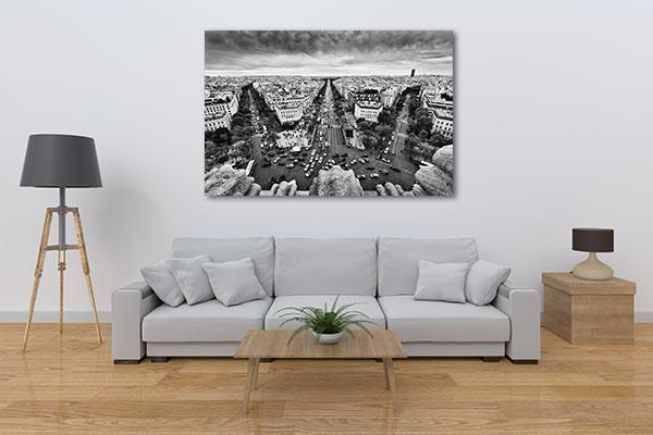 View from Arc de Triomphe Artwork