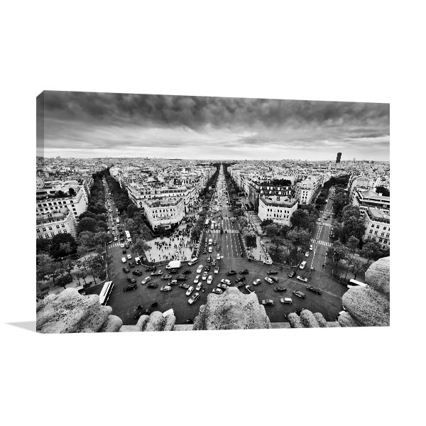 View from Arc de Triomphe Print Artwork