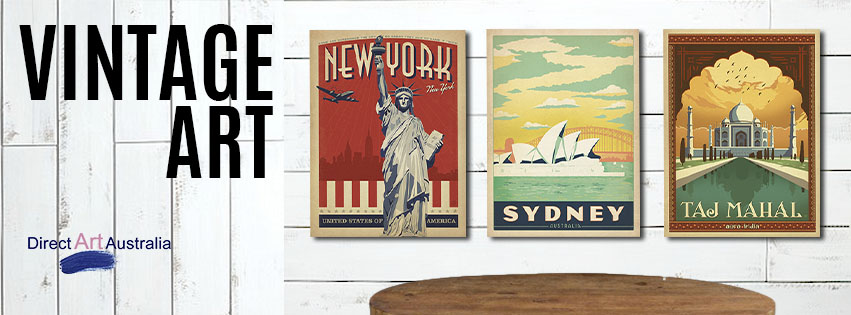 Vintage Art Style Prints And Ready To Hang Canvas
