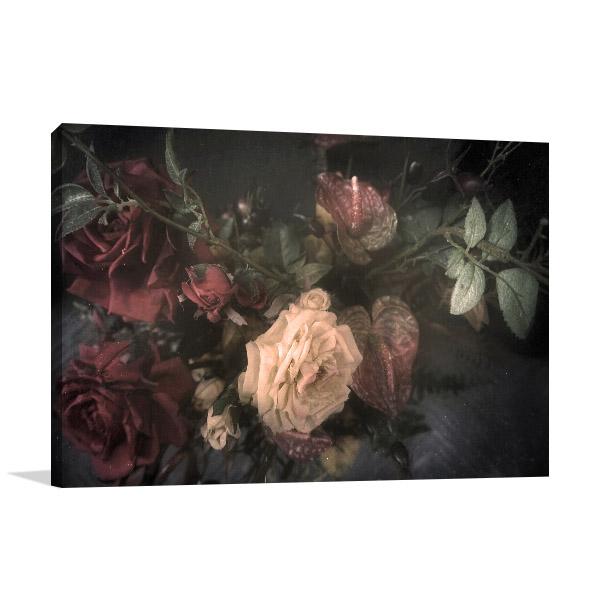 Vintage Floral Canvas Artwork