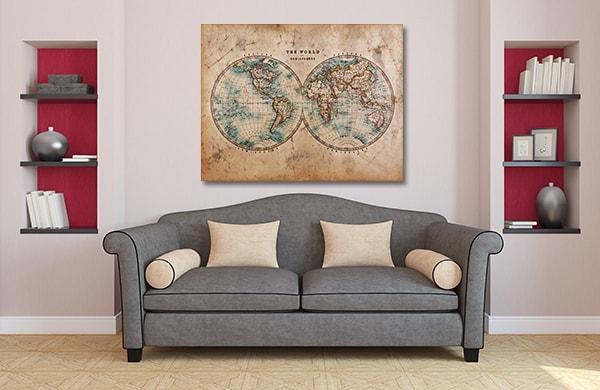 Vintage Globes Wall Art
