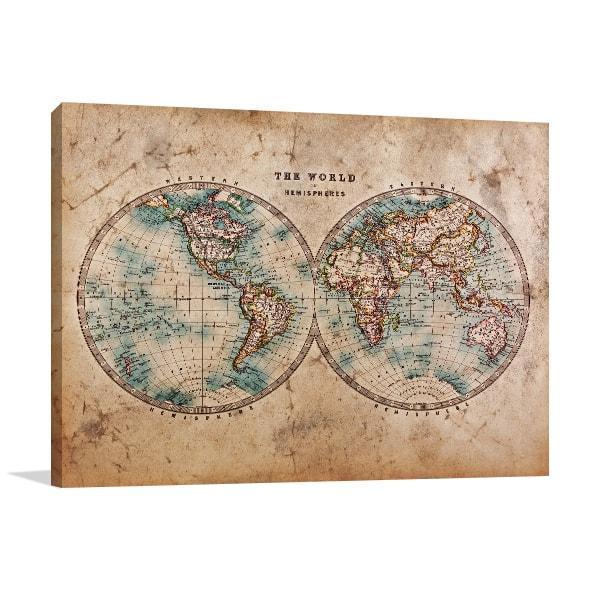 Vintage Globes Canvas Prints