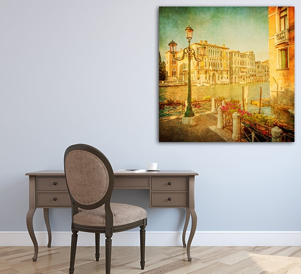 Vintage Grand Canal Print Artwork on the Wall