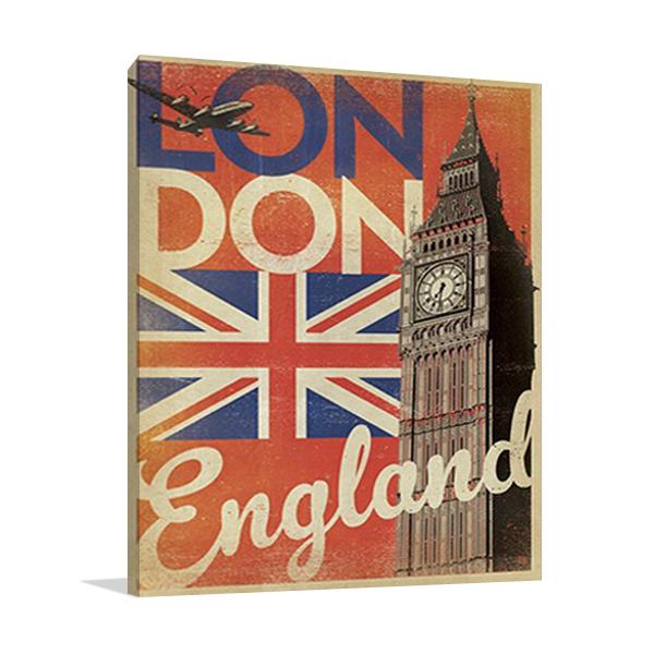 Vintage London Big Ben Wall Art Print