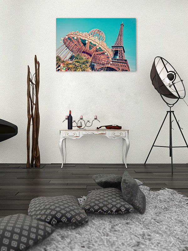 Vintage Merry Go Round Canvas Wall