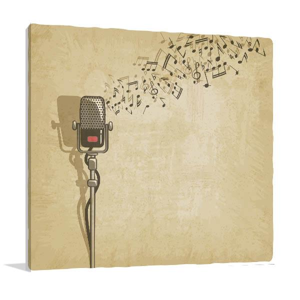 Vintage Microphone Wall Art