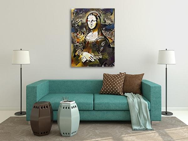 Vintage Mona Lisa Artwork