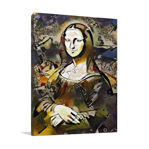 Vintage Mona Lisa Print Artwork
