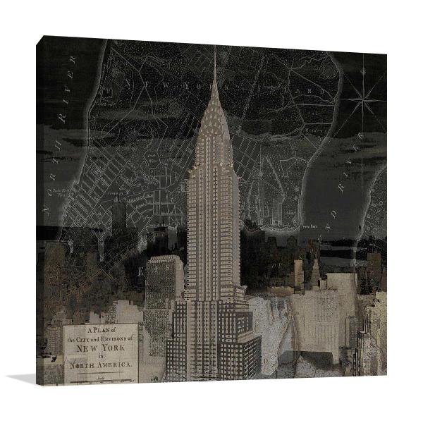 Vintage New York in Black II Print