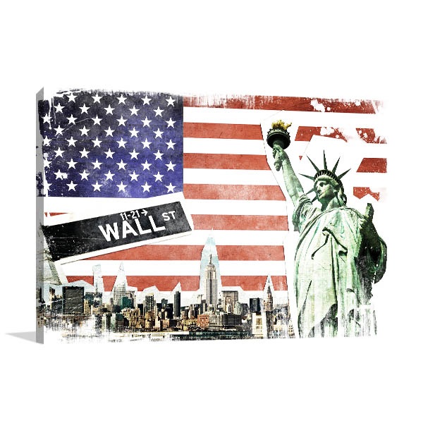 Vintage NYC Collage Canvas Art Prints