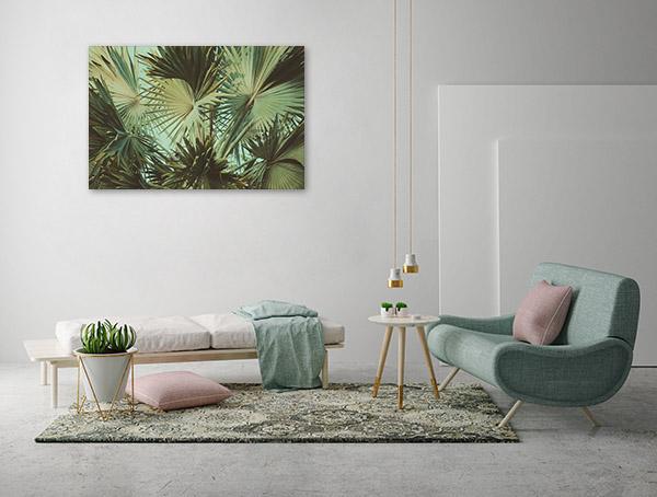 Vintage Palm Leaves Artwork