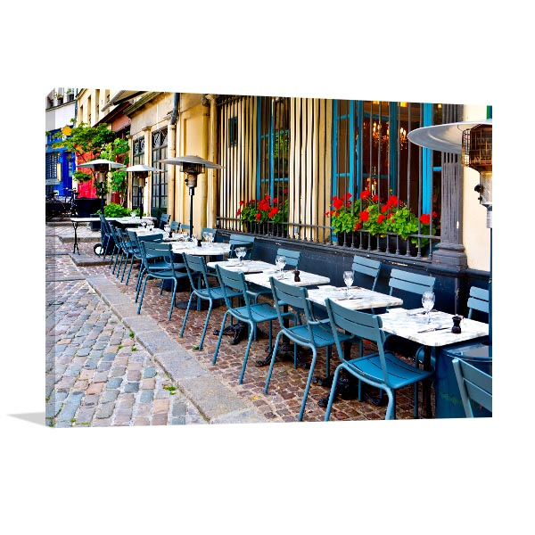 Vintage Restaurants in France Wall Art