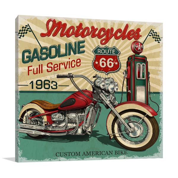 Vintage Route 66 Artwork