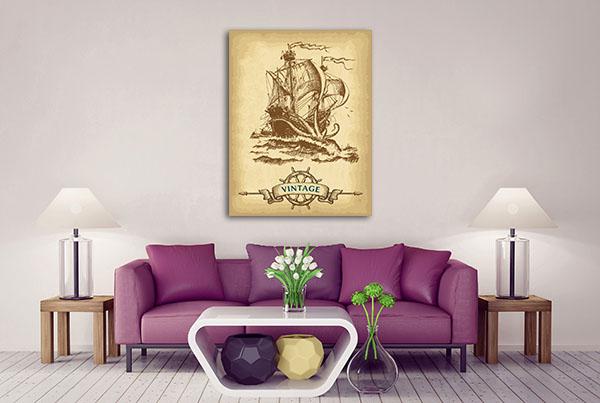 Vintage Sailing Ship Prints Canvas