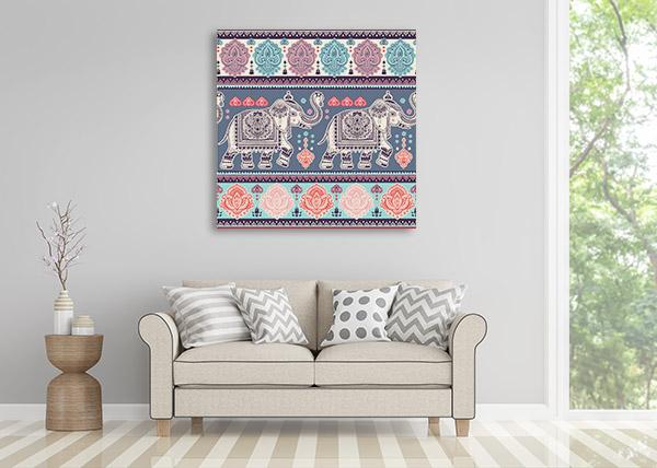 Vintage Tribal Ornament Canvas Art Prints