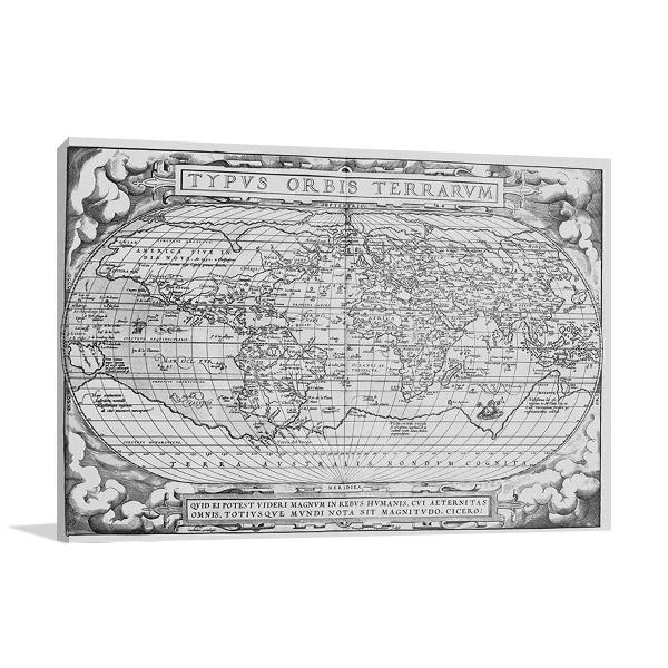Vintage World Map Canvas Art Print