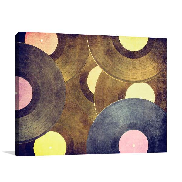 Vinyl Record Prints Canvas