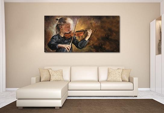Violinist Canvas Prints
