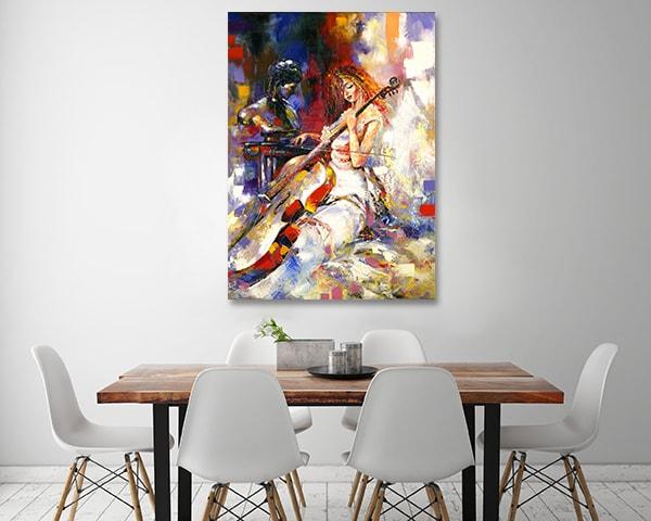 Violoncello Art Print on the Wall