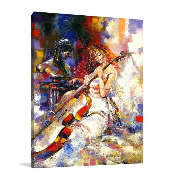 Violoncello Canvas Art Print