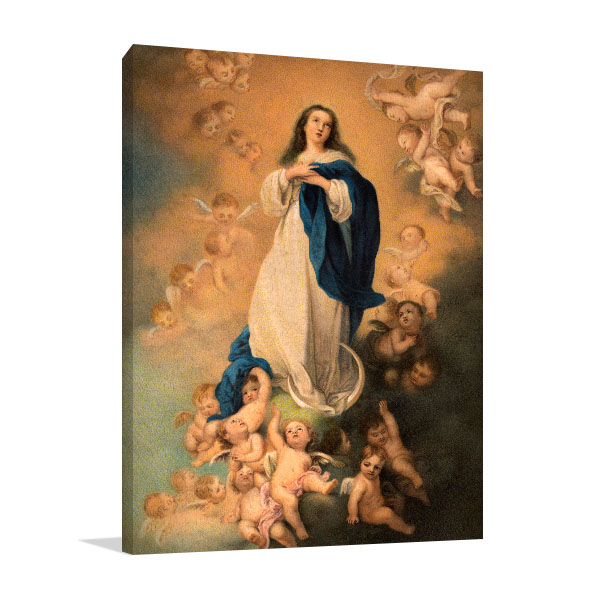 Virgin Mary With Angels Wall Art