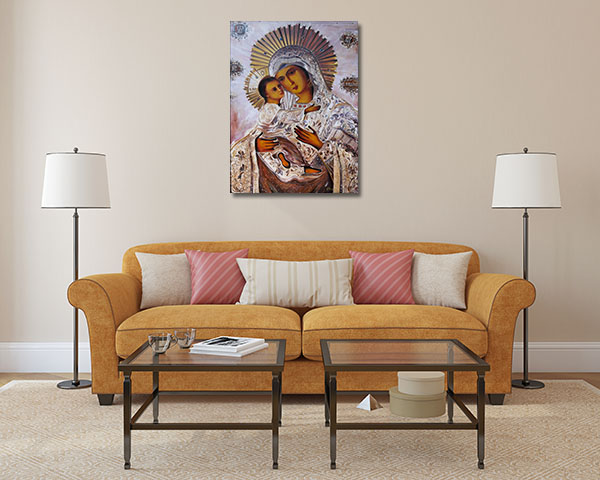 Virgin Mary With Baby Jesus Prints Canvas