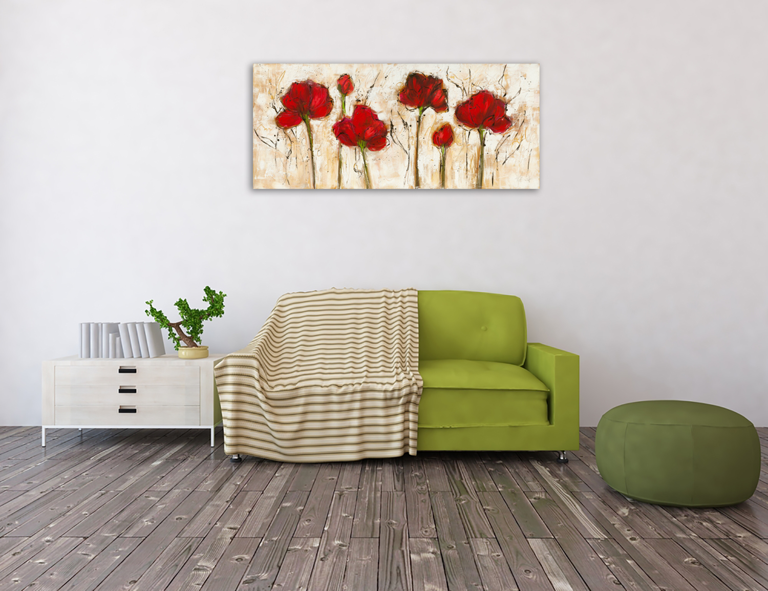 Floral Wall Art Print on Canvas
