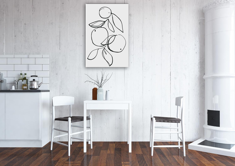 Line Illustration Canvas Wall Art