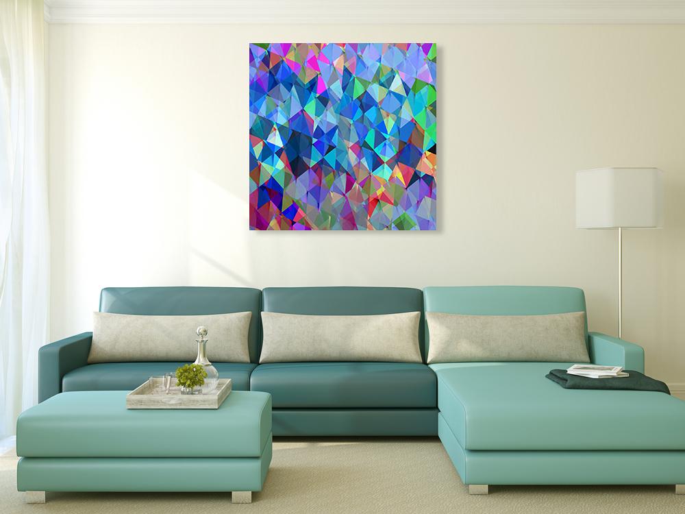Multi-Colours Wall Art Print on Canvas