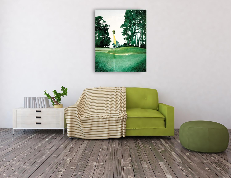 Green Portrait Canvas Wall Art